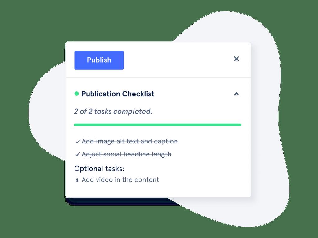 Altis Publication Checklist in the block editor