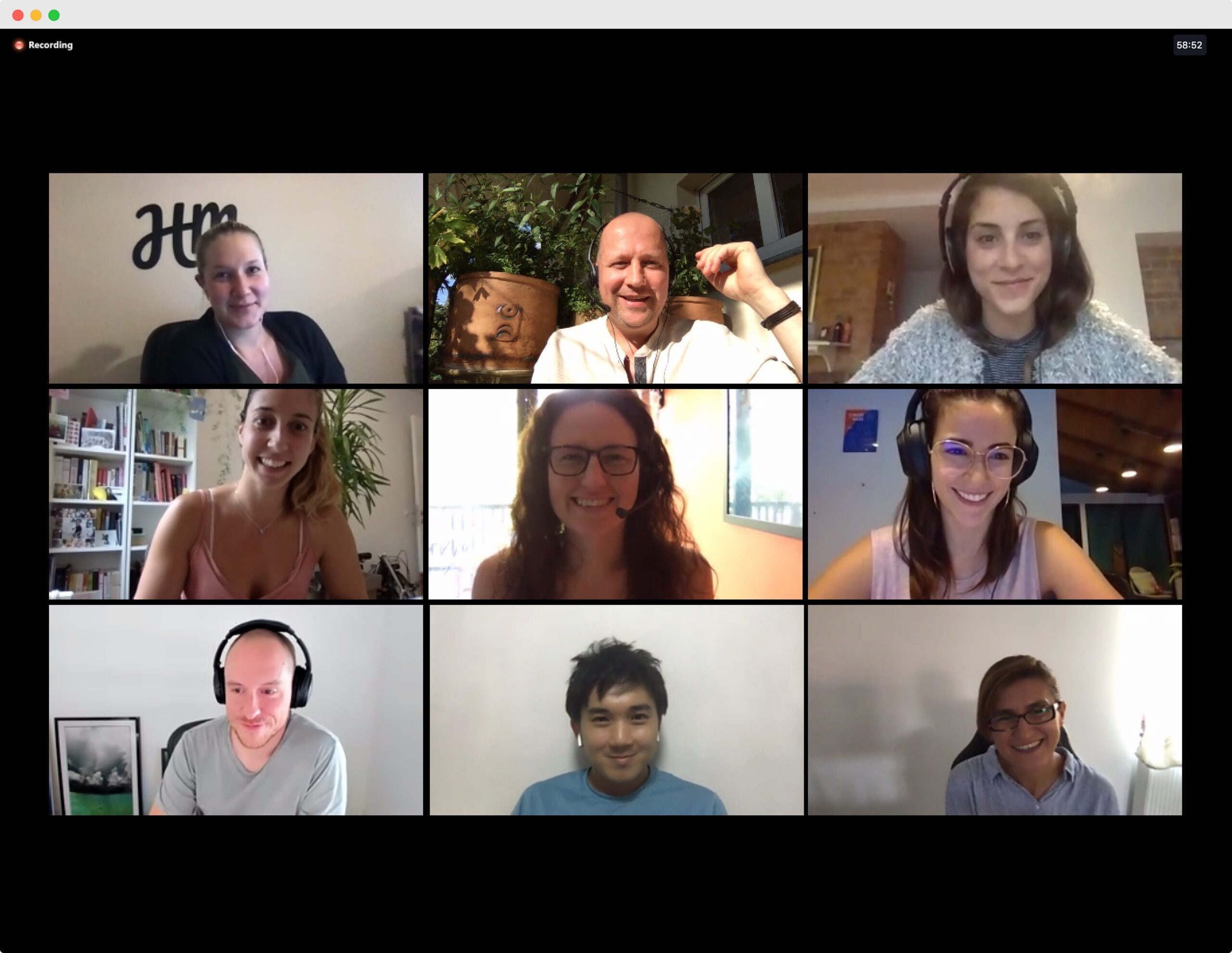 Human Made team members on a video call