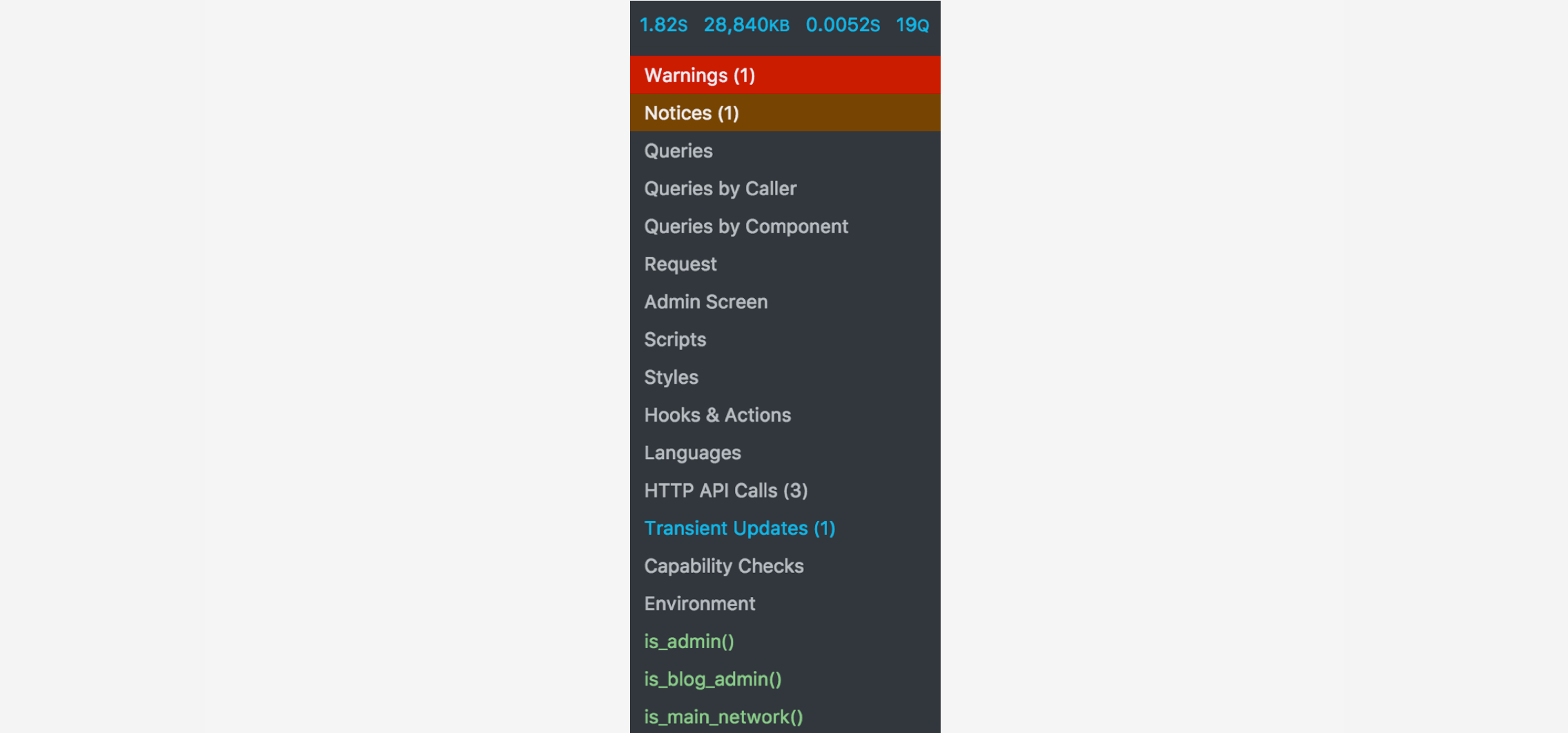 Screenshot of the developer tools toolbar item